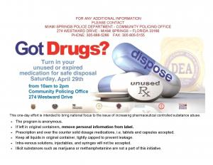 National Prescription Drug Take-Back  Event 2017