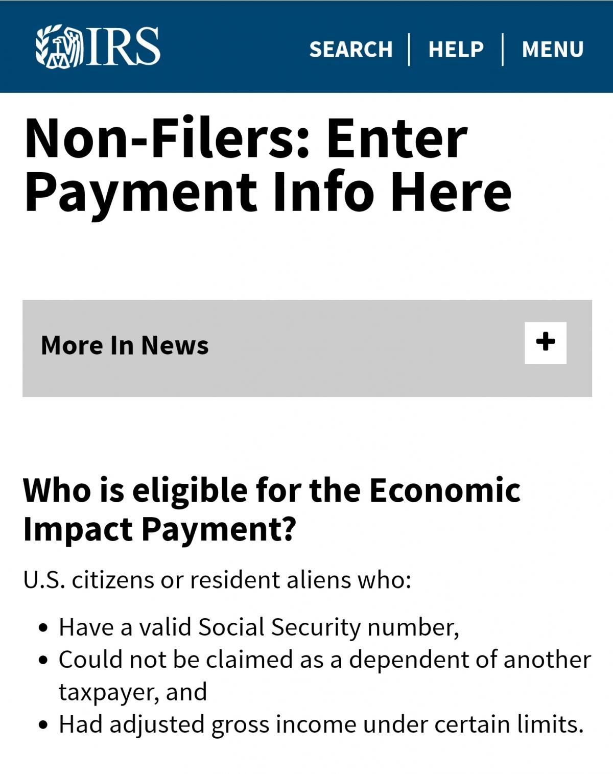 How Non-Filers (IRS) Can Receive Stimulus Check | City of Miami Springs  Florida Official Website