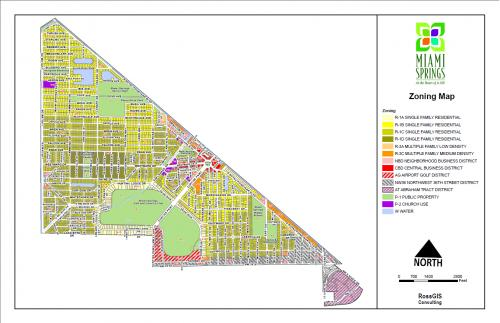Miami Springs Zoning Map City Of Miami Springs Florida Official Website