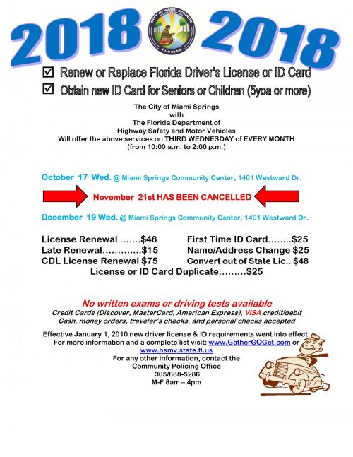 florida driver's license renewal & replacement service | city of